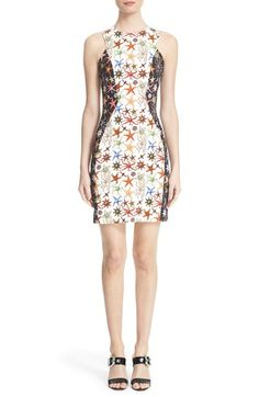 Versace Collection Starfish Print Bicolor Sheath Dress available at #Nordstrom