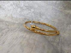 Bracelet Models - (notitle) - My Popular Photo Kids Gold Jewellery, Baby Jewelry, Kids Jewelry, Gold Jewelry, Jewellery Designs, India Jewelry, Plain Gold Bangles, Gold Bangles Design, Gold Finger Rings