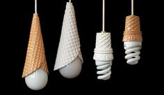 Ice cream cones for lights?  #lighting #home #decor