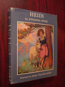 Vintage HC HEIDI 1958 Jessie Willcox Smith DJ Illustrated Color Lithos Prints. FOR MY BIRTHDAY from someone