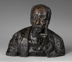 """John La Farge,"" Edith Woodman Burroughs, 1908, Bronze; 16 1/4 x 18 3/4 x 9"", Metropolitan Museum of Art."