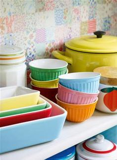 How could you be unhappy if these cheery colours were displayed in your kitchen?