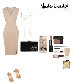 """Nude Lady!"" by minadinamike on Polyvore featuring Oasis, Zoë Chicco, Forever 21, Edie Parker, Christian Louboutin, Casetify, NARS Cosmetics, Josie Maran, Nails Inc. and Jimmy Choo"