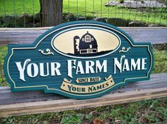 Farm name / date est / owner name The Farm, Cabana, Farm Entrance, Entrance Gates, Farm Name, Storefront Signs, Farm Store, Farm Logo, Farm Signs