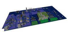 Placa Superior controle CLP PLC com interface Namur