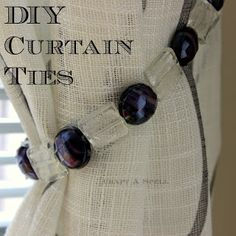 Craft A Spell: DIY Purple Crystal Curtain Ties