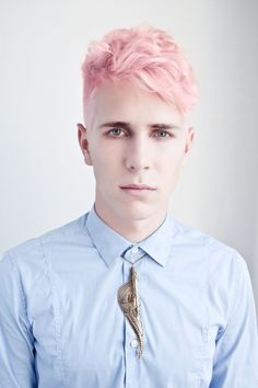 men 2015 short dyed hair purple - Google Search