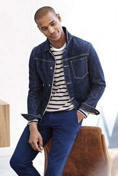 Layer up your fall look with our classic tailor fit jean jacket. Pair this denim essential with chinos and a striped tee for an everyday cool look | Banana Republic