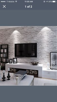 Definitely my dream lounge room 3d Wallpaper Vintage, Black Wallpaper, Wall Wallpaper, Brick Bedroom, Gray Bedroom, Wall Texture Design, Brick Accent Walls, Kids Room Wall Art, Fireplace Remodel