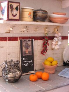 Mini daydreams: love the chalkboard and egg basket