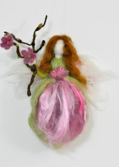 Needle felted Waldorf  Spring Fairy /Soft sculpture/ needle felt by Daria Lvovsky- Made to order. $48.00, via Etsy.