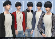 Parker Cardigan at JS Sims 4 • Sims 4 Updates