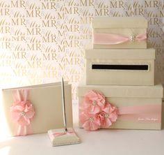 "Decorative Card Boxes Ivory Wedding Card Box The ""ann"" Custom Order Wedding Card Box"