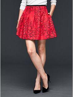 Pleated print skirt   Gap