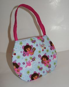 Little Girl Purse Made From Dora The Explorer Fabric.