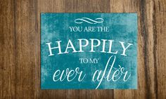 Valentines Day Special - Happily Ever After Sign - 10 x 8. $13.00, via Etsy.
