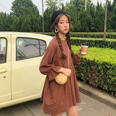 Buy HEMIS Long Sleeve Babydoll Dress | YesStyle