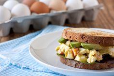 Curried Greek Yogurt EggSalad by edibleperspective: No mayo. #Egg_Salad #Curry