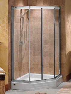 MAAX Collection: Illusion - Neo Angle Corner Shower Door Unit