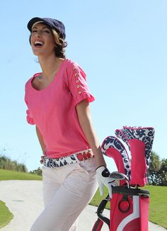 Navy and pink #golf accessories