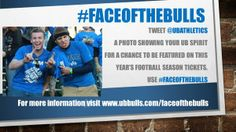 Share a photo for a chance to be on a UB Bulls football season ticket (deadline 5/12/14) #ubuffalo #FaceoftheBulls http://www.ubbulls.com/faceofthebulls