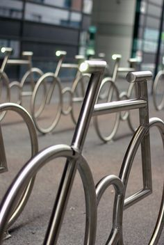 MAD building bicycle stands, Oslo, Norway by MAD arkitekter Urban Furniture, Street Furniture, Luxury Furniture, Oslo, Bike Shop, Architecture Design, Velo Design, Bicycle Rack, Bicycle Stand