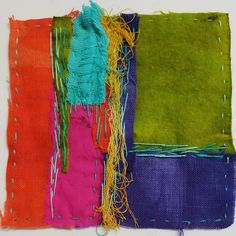 Stitch Meditation at Art and Soul Retreat with Liz Kettle Sashiko Embroidery, Cross Stitch Embroidery, Hand Embroidery, Textile Fiber Art, Textile Artists, Felt Fabric, Fabric Art, Textiles Sketchbook, Embroidery On Clothes