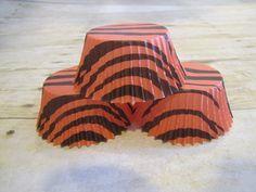 Orange Tiger Stripe Cupcake Liner, Cupcake Papers