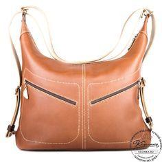 2bba0b2ebedb Женская кожаная сумка-рюкзак