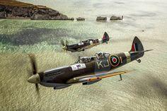 Zdjęcie numer 3 w galerii - Książę Harry w zabytkowym myśliwcu nad wyspą Wight. A pilot wykonuje pętlę... [WIDEO]