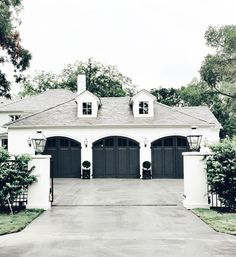 Like color and windows on roof (name?) Above garage doors