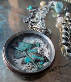 vintage assemblage necklace  PROMISE of SPRING  by TheFrenchCircus, $196.00