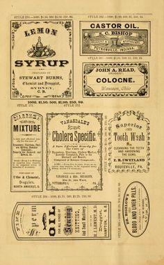33 Labels Per Sheet Template New New Sample Book Of Cut and Gummed Druggists Labels 1874 Vintage Labels, Vintage Ephemera, Vintage Ads, Vintage Newspaper, Vintage Paper, Abc Letra, Etiquette Vintage, Journal Stickers, Printable Labels