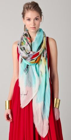 colorful silk scarf