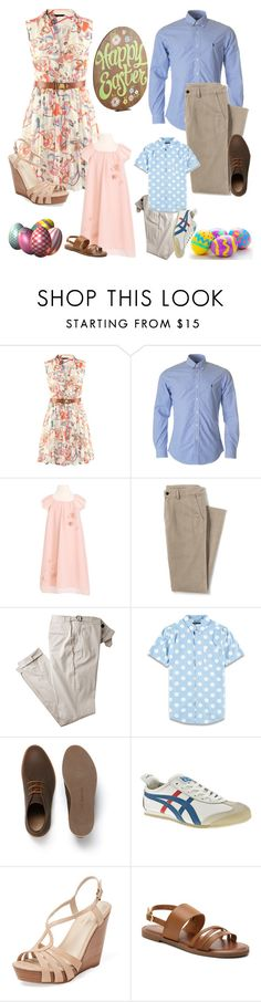"""""""Family Easter Outfits"""" by angelxalice ❤ liked on Polyvore featuring Lands' End, Forever 21, Lacoste, Onitsuka Tiger, Seychelles, Madden Girl, Pier 1 Imports, Spring, Easter and outfit"""