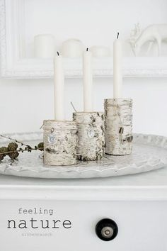 Kerzenständer aus Birke selber machen - DIY Deko