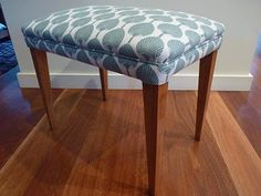 fully reupholstered piano stool, by Rapt! Upholstery