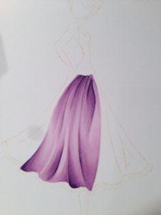 Copic folds by Alexandra Kamann