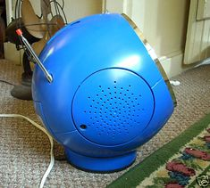 RARE BLUE WELTRON 1970'S 8 TRACK PLAYER AND RADIO Modern Tech, Space Age, Retro Vintage, Track, Mid Century, Blue, Runway, Track And Field