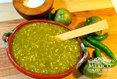 Mexico in my Kitchen: How to Make Spicy Green Tomatillo Sauce / Salsa Verde Picante|Authentic Mexican Food Recipes Traditional Blog #kitchen #mexican #recipe