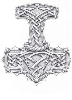 Thor Hammer Drawing Hammer of the gods by Norse Mythology Tattoo, Norse Tattoo, Celtic Tattoos, Viking Tattoos, Warrior Tattoos, Maori Tattoos, Samoan Tattoo, Polynesian Tattoos, Tattoo Ink