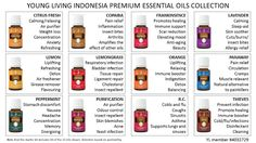 Premium Essential Oils Collection Cheat Sheet