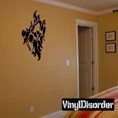 Tears through walls Ripped Wall Decal - Vinyl Decal - Car Decal - CD6156