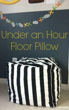 Under an Hour Floor Pillow DIY | Easy DIY Home Decor Project on a Budget