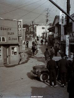 昭和39年正月 山陽電鉄 山陽舞子駅前  Sanyo Electric Railway New Year Maiko Station before 1964