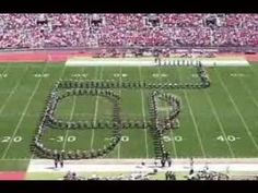 """Ohio state university marching band (TBDBITL) performs """"script"""" - great example of crossing paths, marking time, etc."""