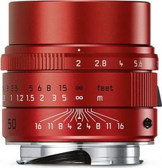 LEICA APO-SUMMICRON-M 50 mm f/2 ASPH. in Red Anodised Finish is the Latest Special Edition: Only 100 Lenses Will Be Available Worldwide www.photoxels.com/leica-apo-summicron-m-50-mm-f2-asph-red/
