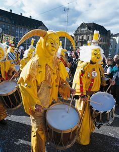 (c) Switzerland Tourism - Christof  Sonderegger,   Fasnacht, Basel, Switzerland    What impressive costumes !