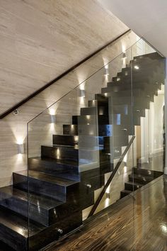 black, grunge, and house image Home Stairs Design, Home Building Design, Home Room Design, Dream Home Design, Modern House Design, Home Interior Design, Glass Stairs, Luxury Homes Dream Houses, Modern Stairs