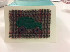 Home made Land Rover card